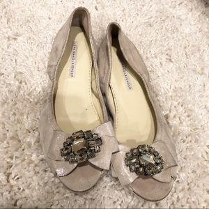 Vera Wang Crystal Embellished Flats for Brides!